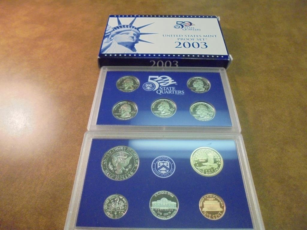2003 US PROOF SET (WITH BOX) - 2