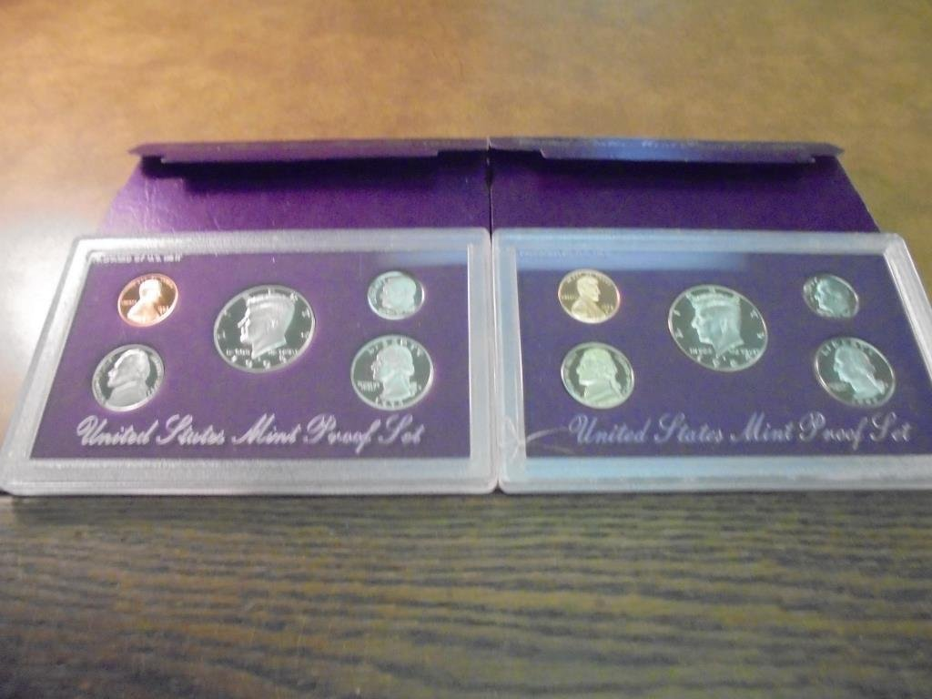 1992 & 1993 US PROOF SETS (WITH BOXES)