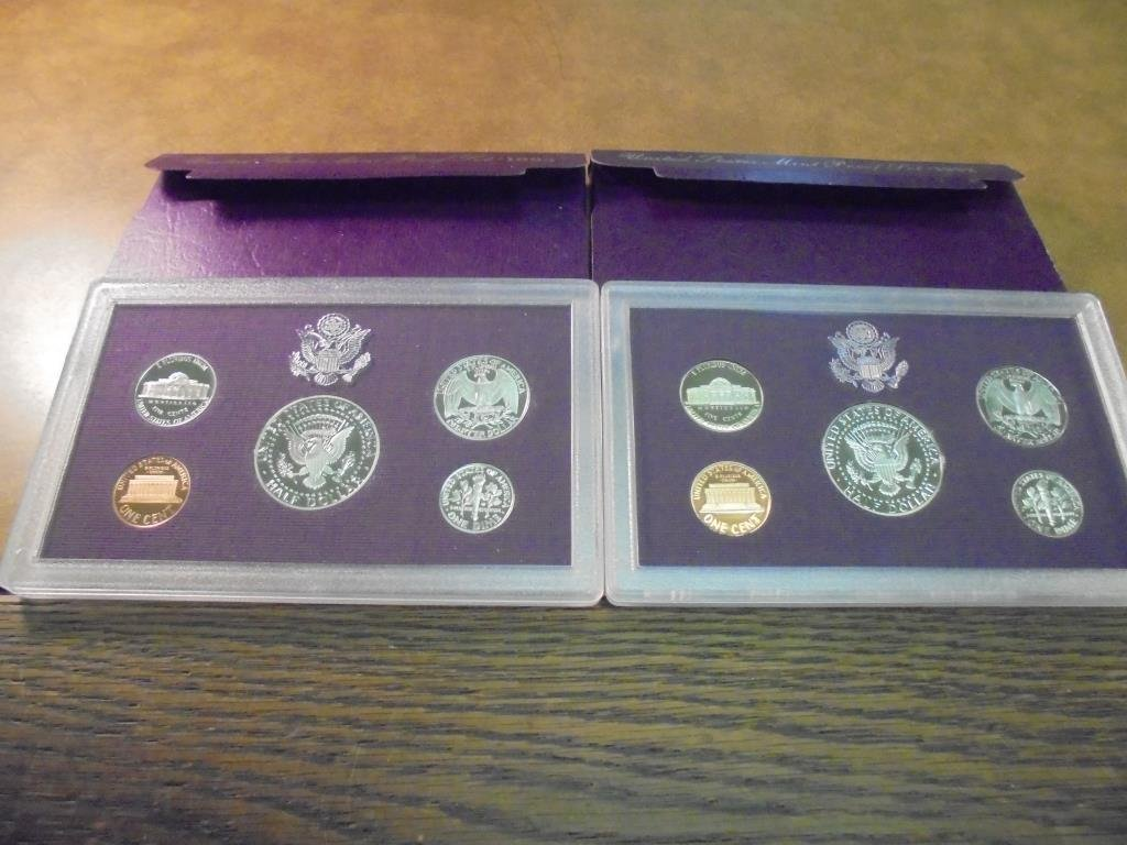 1992 & 1993 US PROOF SETS (WITH BOXES) - 2
