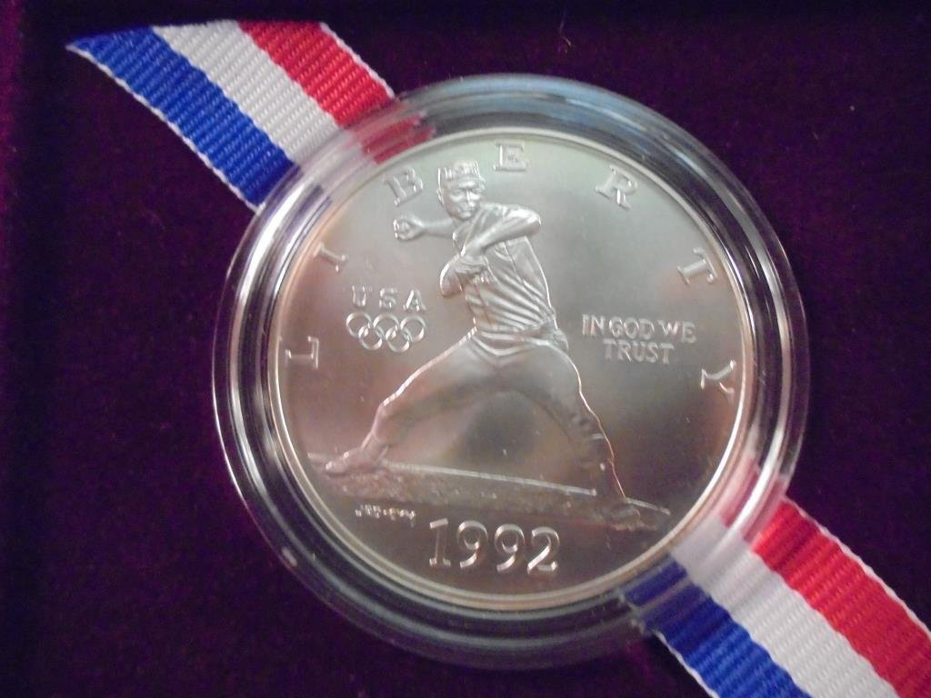 1992-D US OLYMPIC UNC SILVER DOLLAR
