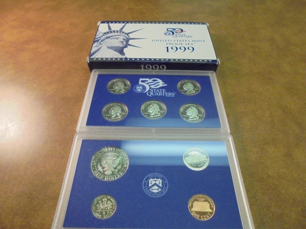 1999 US PROOF SET (WITH BOX) - 2