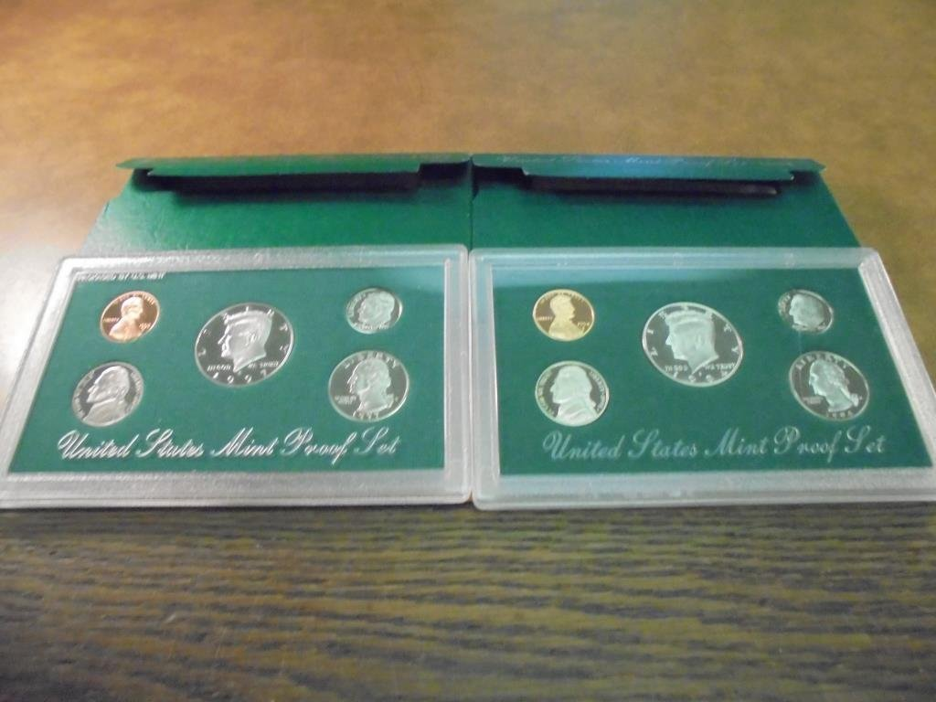 1994 & 1997 US PROOF SETS (WITH BOXES)