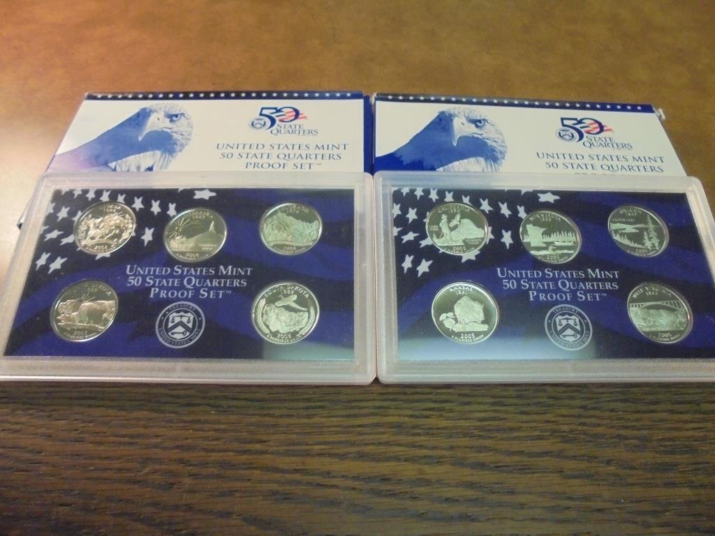2005 & 2006 US 50 STATE QUARTERS PROOF SETS