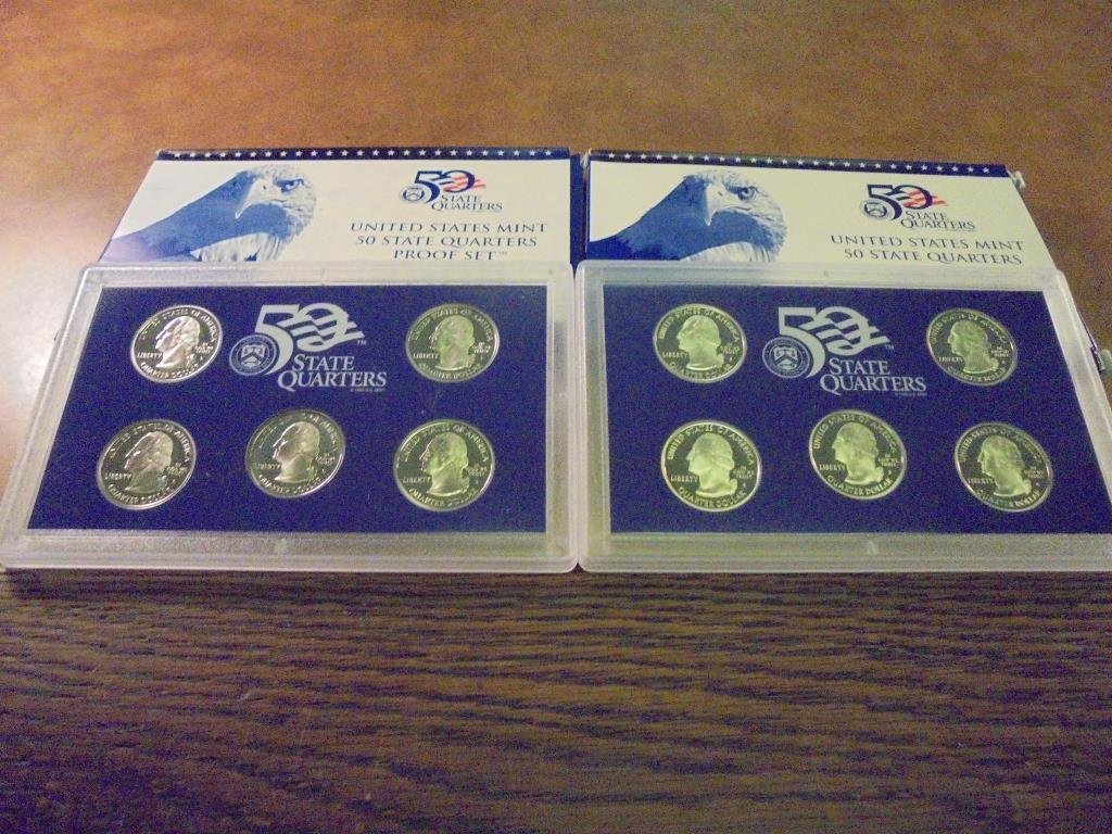 2005 & 2006 US 50 STATE QUARTERS PROOF SETS - 2