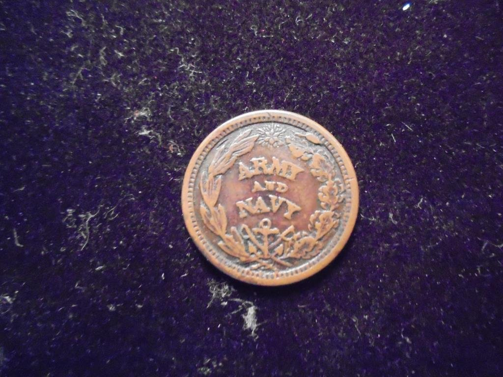 CIVIL WAR TOKEN OBV. THE FEDERAL UNION IT MUST AND - 2