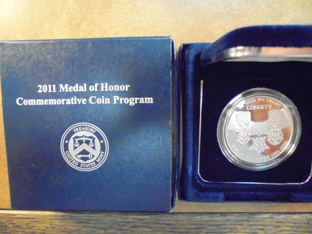 2011-P MEDAL OF HONOR PROOF SILVER DOLLAR