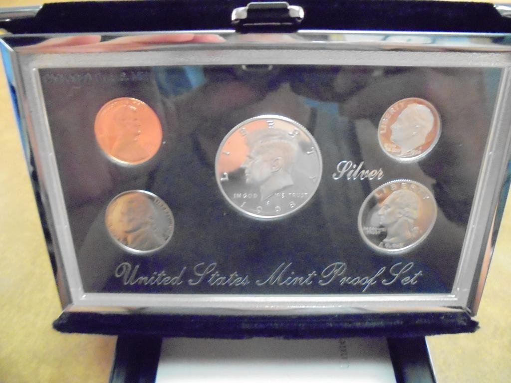 1998 US SILVER PREMIER PROOF SET (WITH BOX)