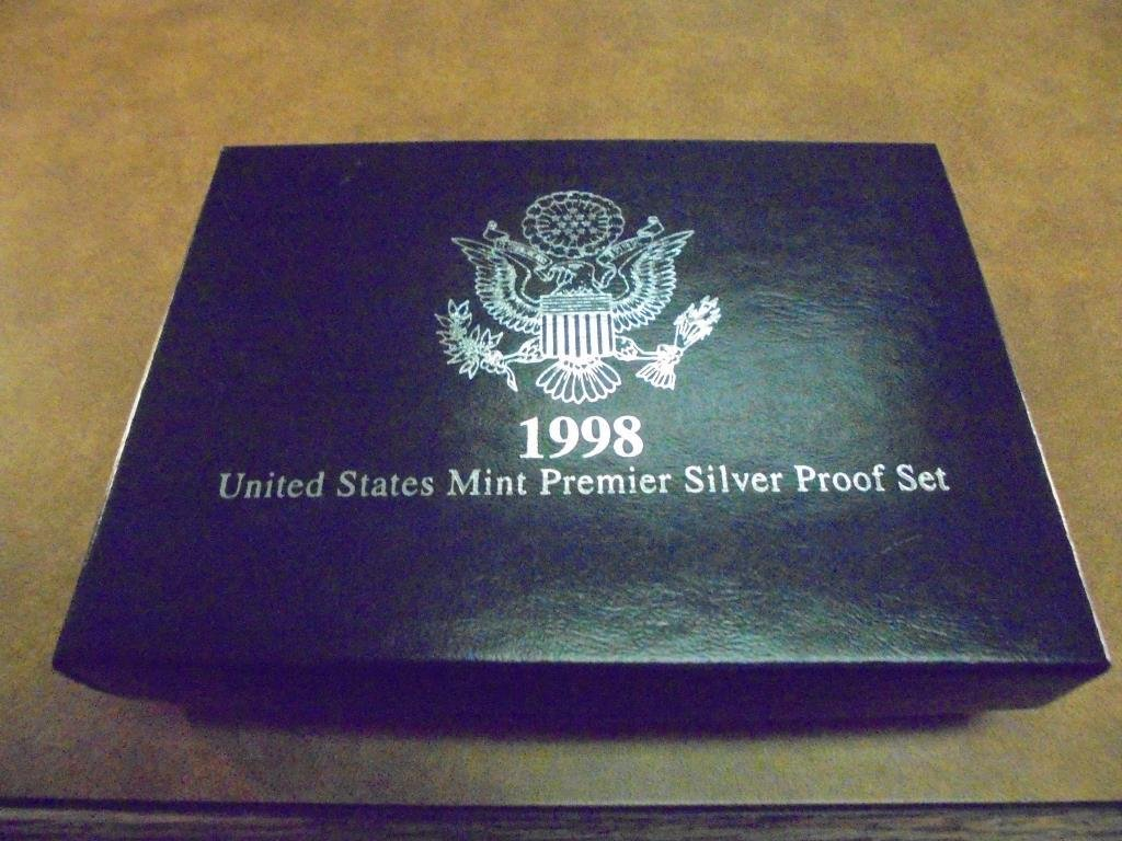 1998 US SILVER PREMIER PROOF SET (WITH BOX) - 3