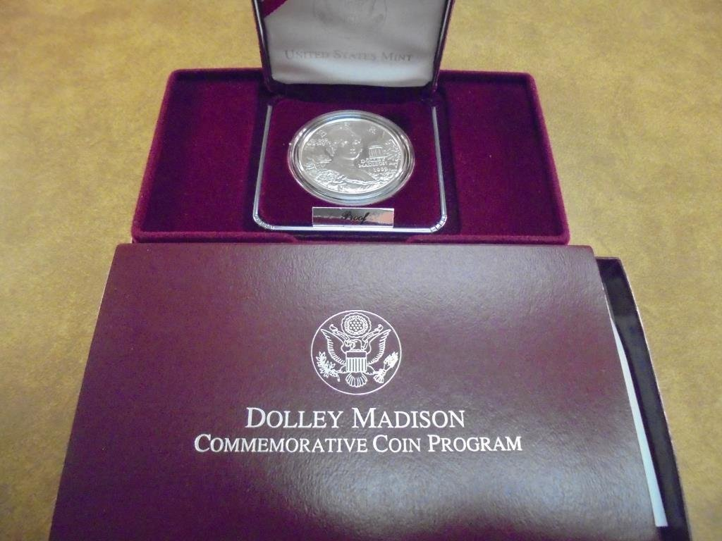 1999-P DOLLEY MADISON PROOF SILVER DOLLAR