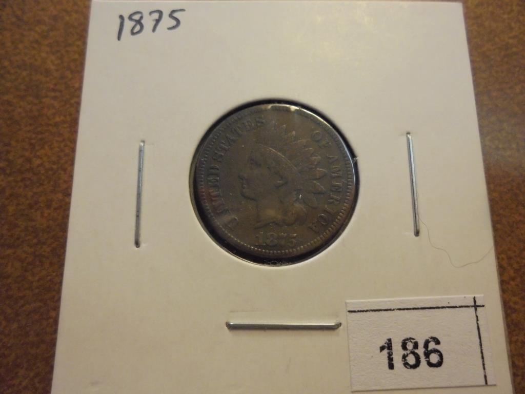 1875 INDIAN HEAD CENT (FINE)