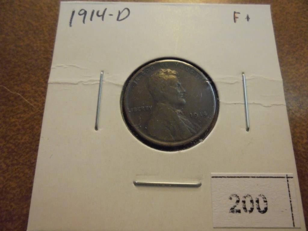 1914-D LINCOLN CENT KEY DATE (FINE)