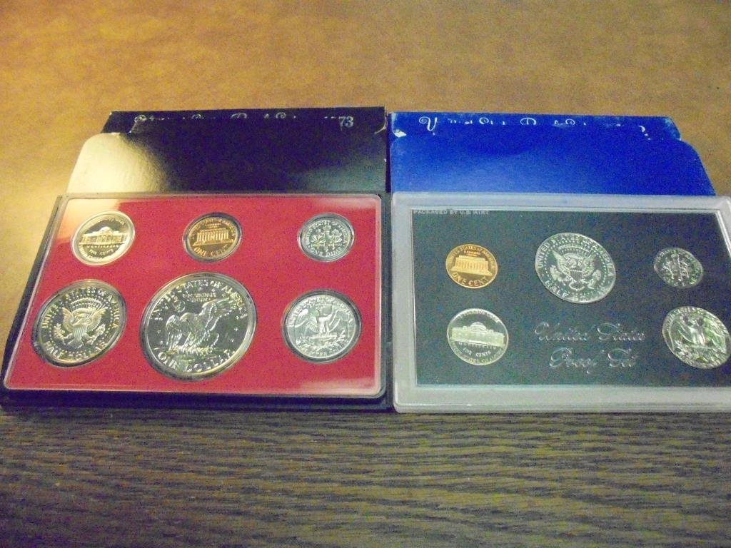 1972 & 1973 US PROOF SETS (WITH BOXES) - 2