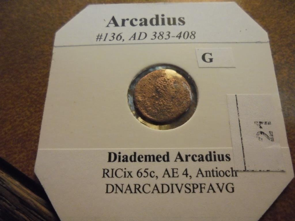 383-408 A.D. ARCADIUS ANCIENT COIN