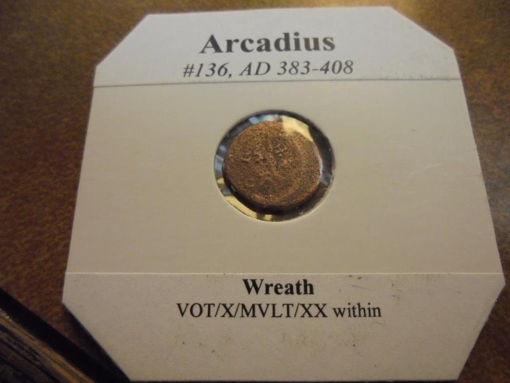 383-408 A.D. ARCADIUS ANCIENT COIN - 2