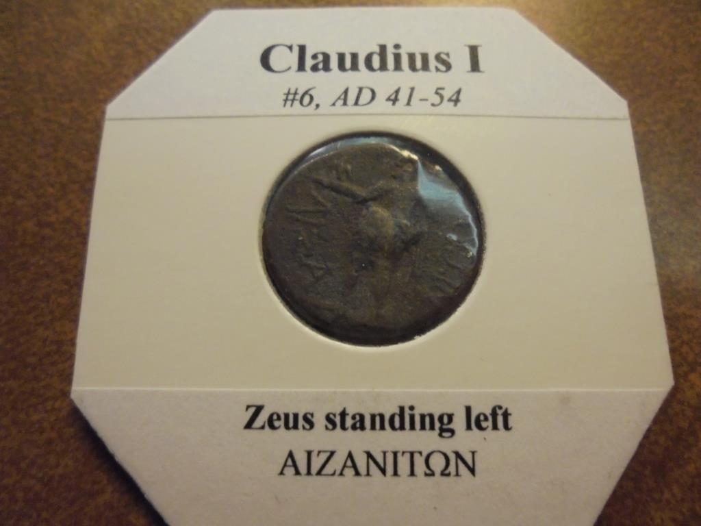 41-54 A.D. CLAUDIUS I ANCIENT COIN (FINE) - 2
