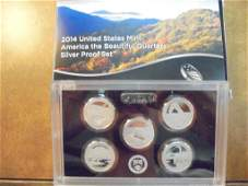 2014 SILVER UNITED STATES AMERICA THE BEAUTIFUL