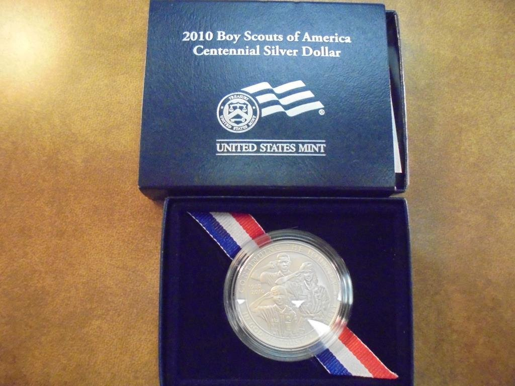 2010-P BOY SCOUTS OF AMERICAN UNC SILVER DOLLAR