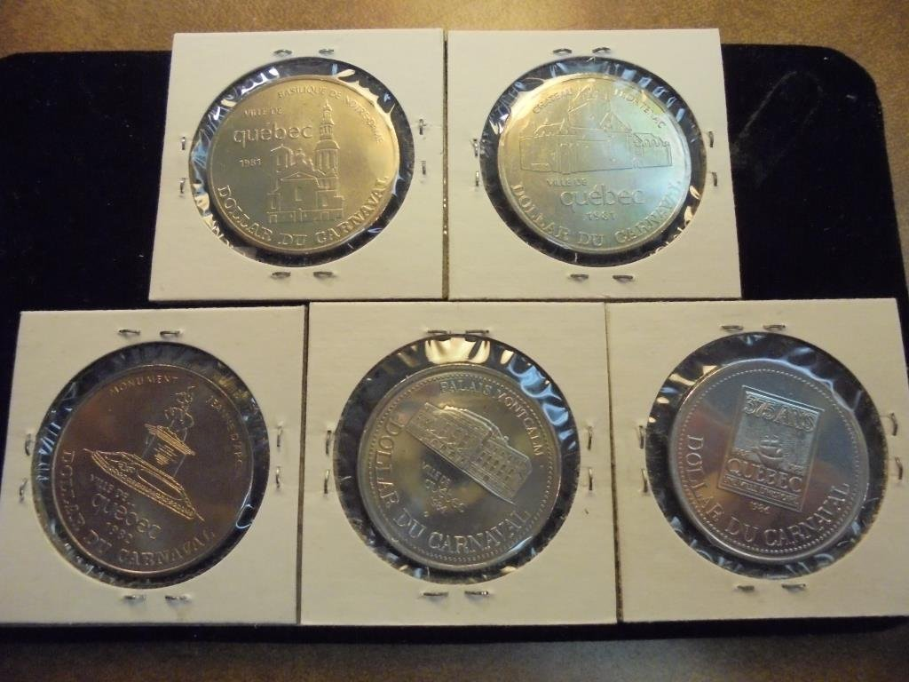 1981,81,82,84 & 86 QUEBEC CITY CANADA TRADE $'S - 2
