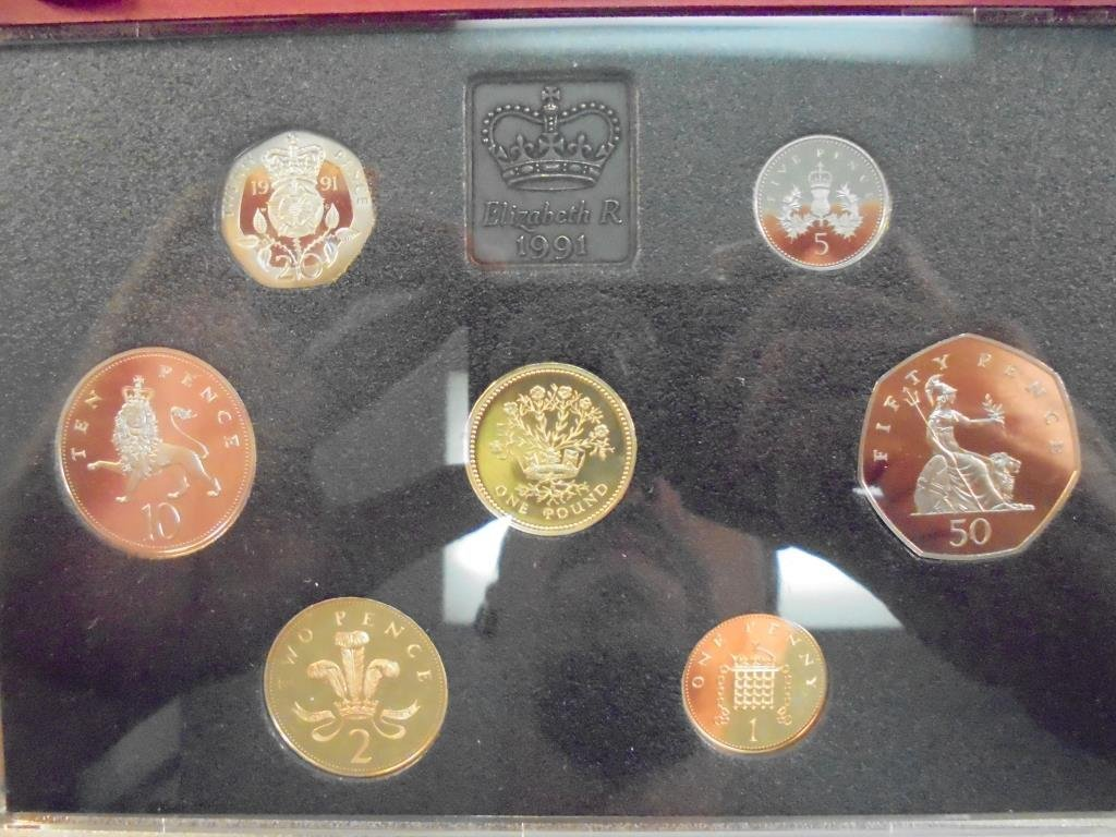 1991 UNITED KINGDOM PROOF COIN COLLECTION - 2