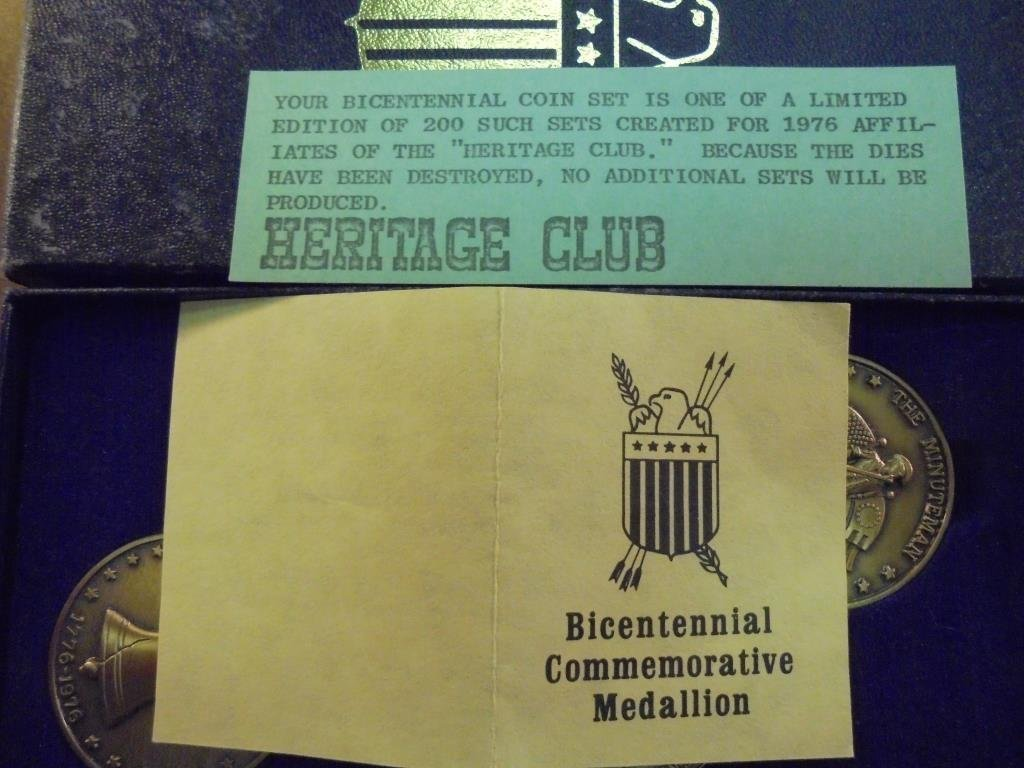1976 BICENTENNIAL COIN SET 1 OF THE LIMITED - 3
