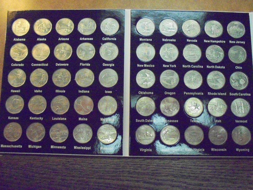 ALBUM WITH ALL 50 US STATE QUARTERS UNC