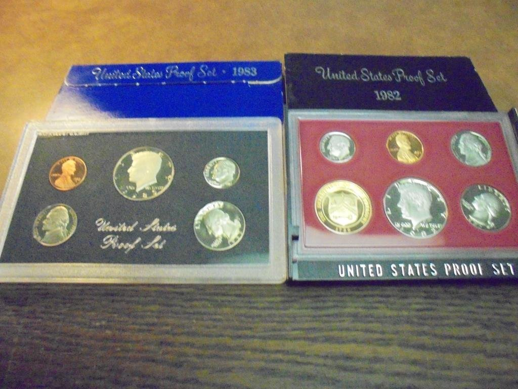 1982 & 1983 US PROOF SETS (WITH BOXES)
