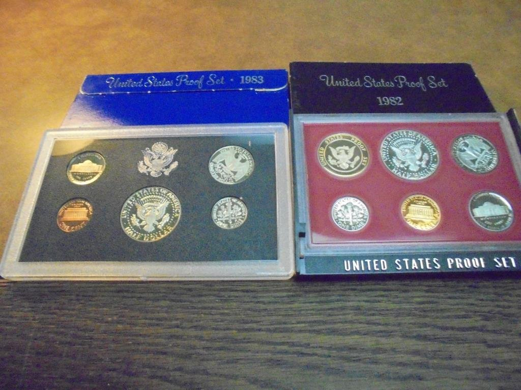 1982 & 1983 US PROOF SETS (WITH BOXES) - 2