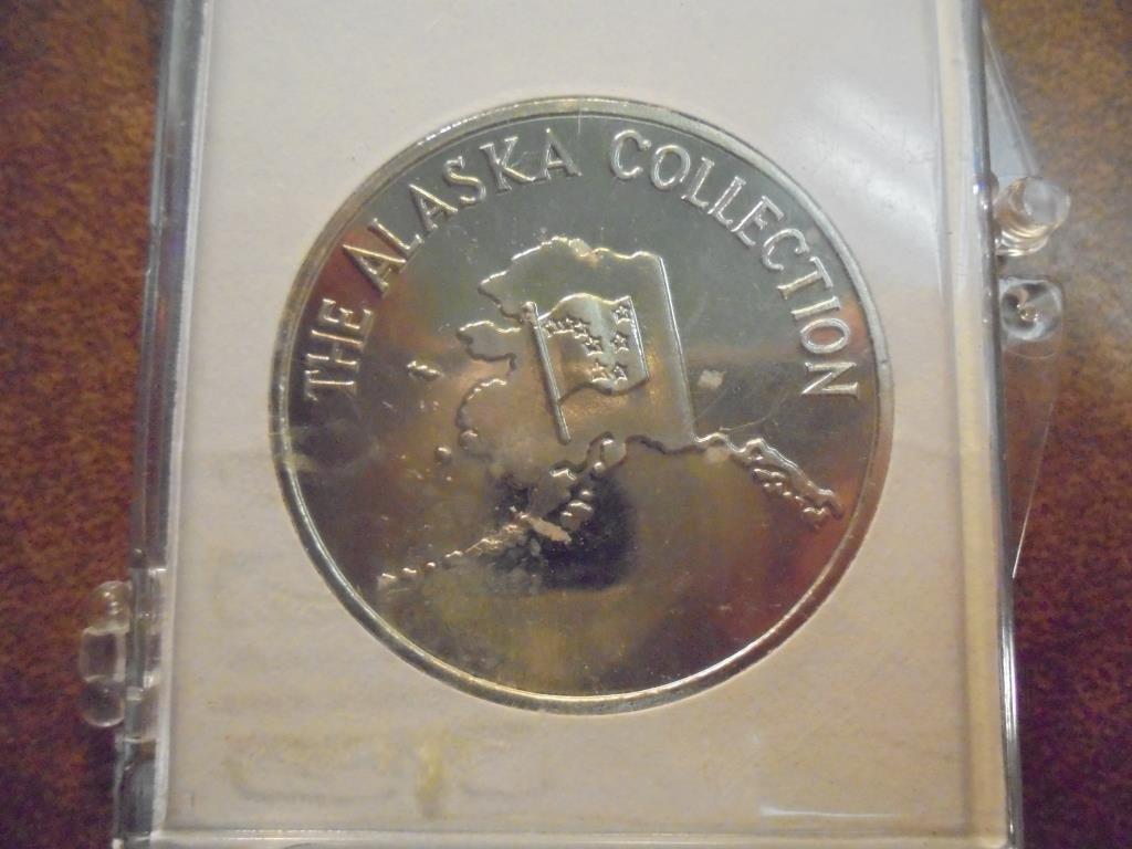 ALASKA GOLD RUSH CENTENNIAL TOKEN WITH REAL GOLD - 2