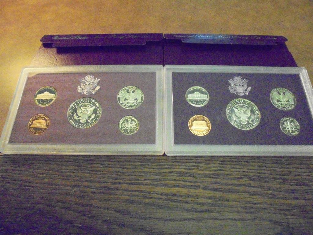 1988 & 1989 US PROOF SETS (WITH BOXES) - 2
