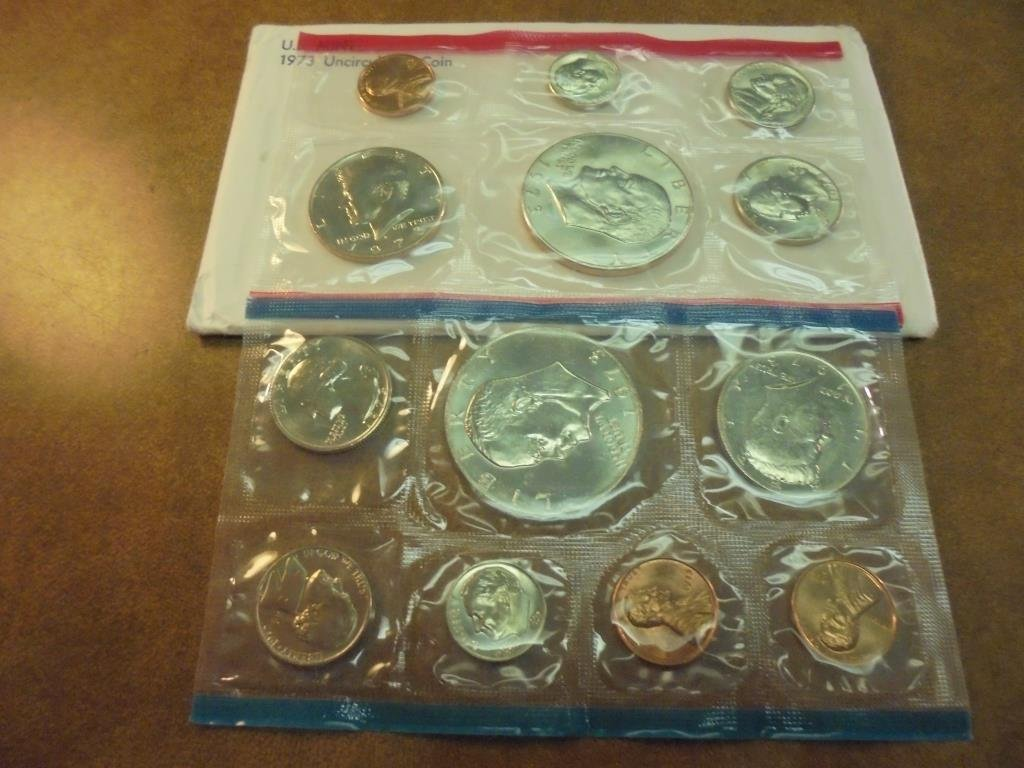 1973 US MINT SET (UNC) P/D/S (WITH ENVELOPE)
