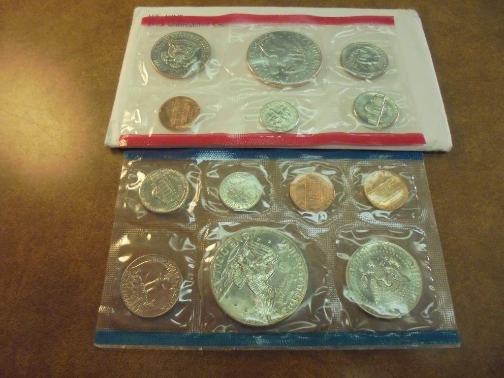 1973 US MINT SET (UNC) P/D/S (WITH ENVELOPE) - 2