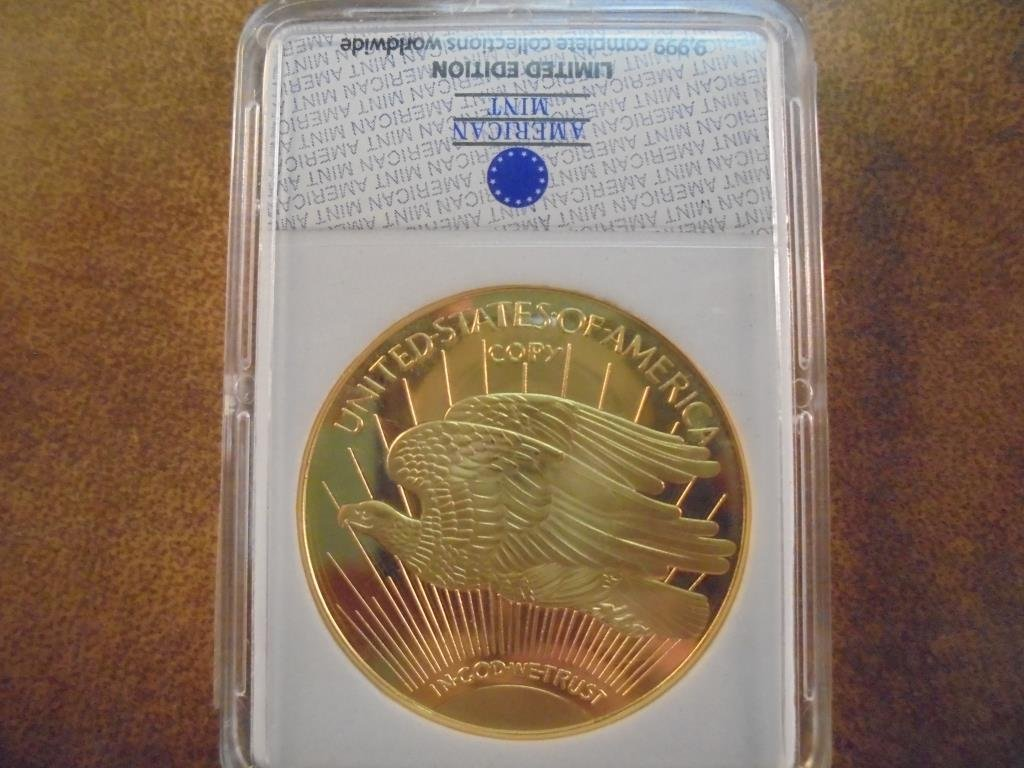1933 GOLD DOUBLE EAGLE REPLICA LAYERED IN 24KT - 2