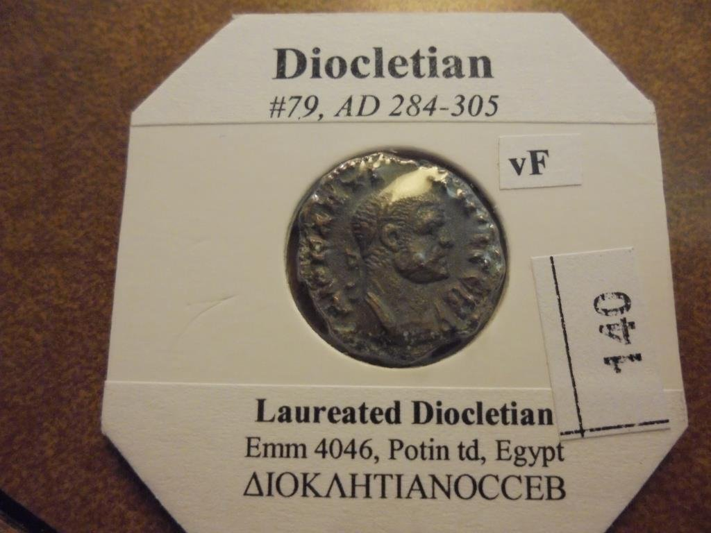 284-305 A.D. DIOCLETIAN ANCIENT COIN VERY FINE