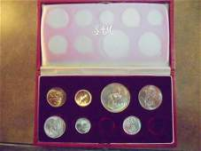 PARTIAL 1965 SOUTH AFRICA PROOF SET 1, 2, 5, 10,