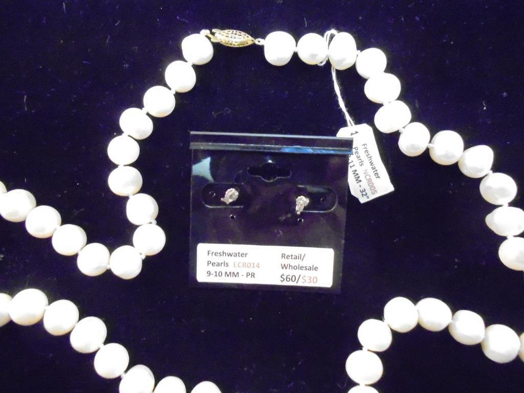FRESH WATER PEARL NECKLACE & EARRING SET - 2