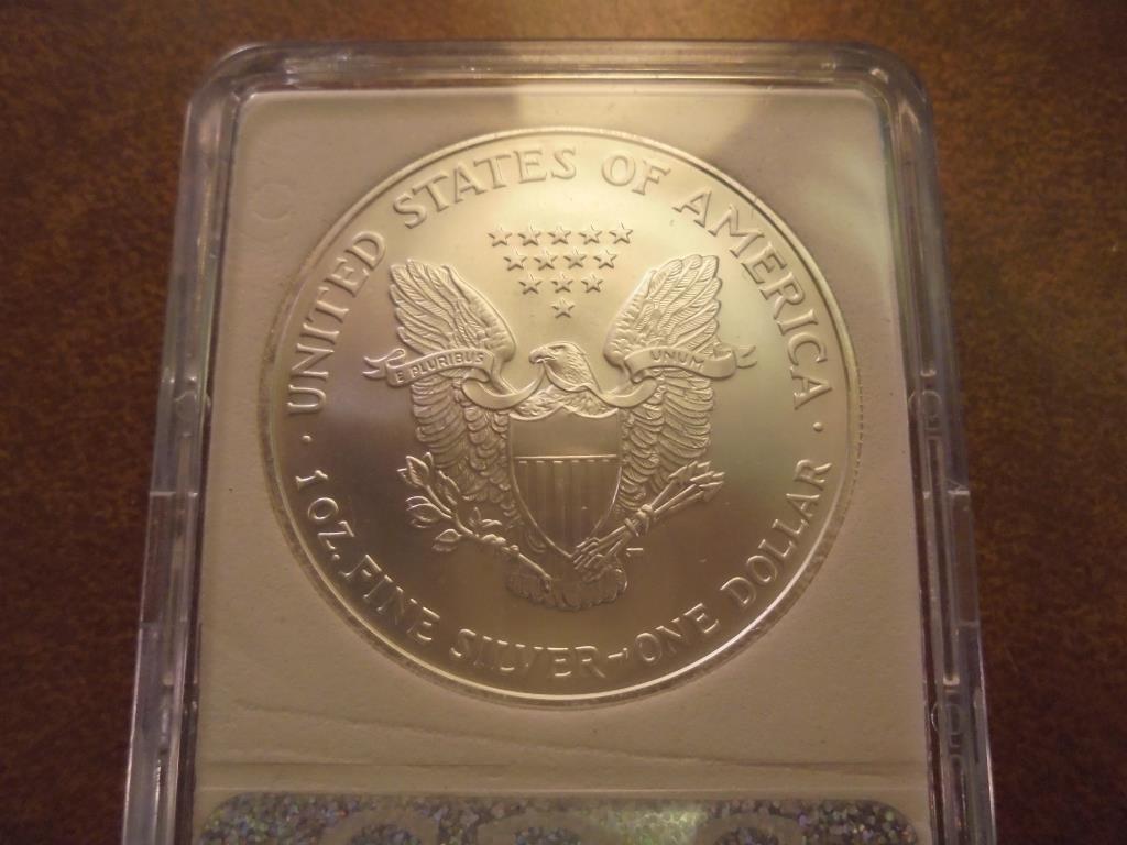 2007-W AMERICAN SILVER EAGLE MS PERFECT - 2