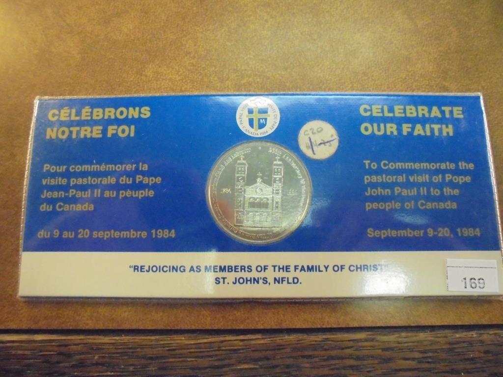 1784-1984 CANADA CELEBRATE OUR FAITH UNC TOKEN