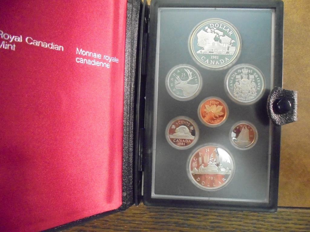 1981 CANADA DOUBLE DOLLAR PROOF SET LOCOMOTIVE