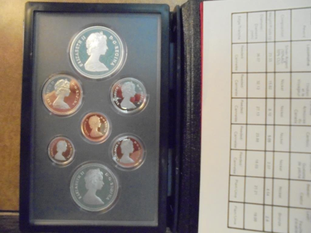 1981 CANADA DOUBLE DOLLAR PROOF SET LOCOMOTIVE - 2