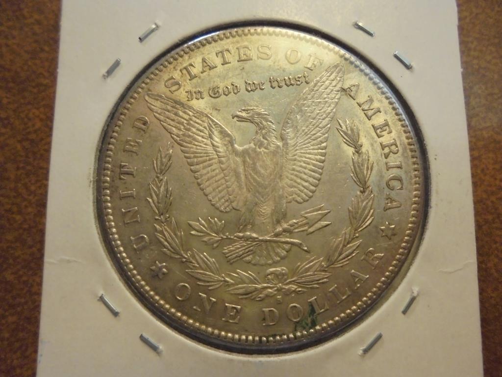 1878-S MORGAN SILVER DOLLAR AU+ - 2