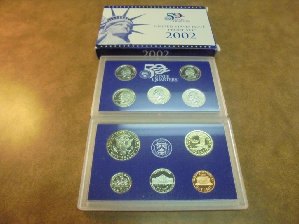 2002 US PROOF SET (WITH BOX) - 2