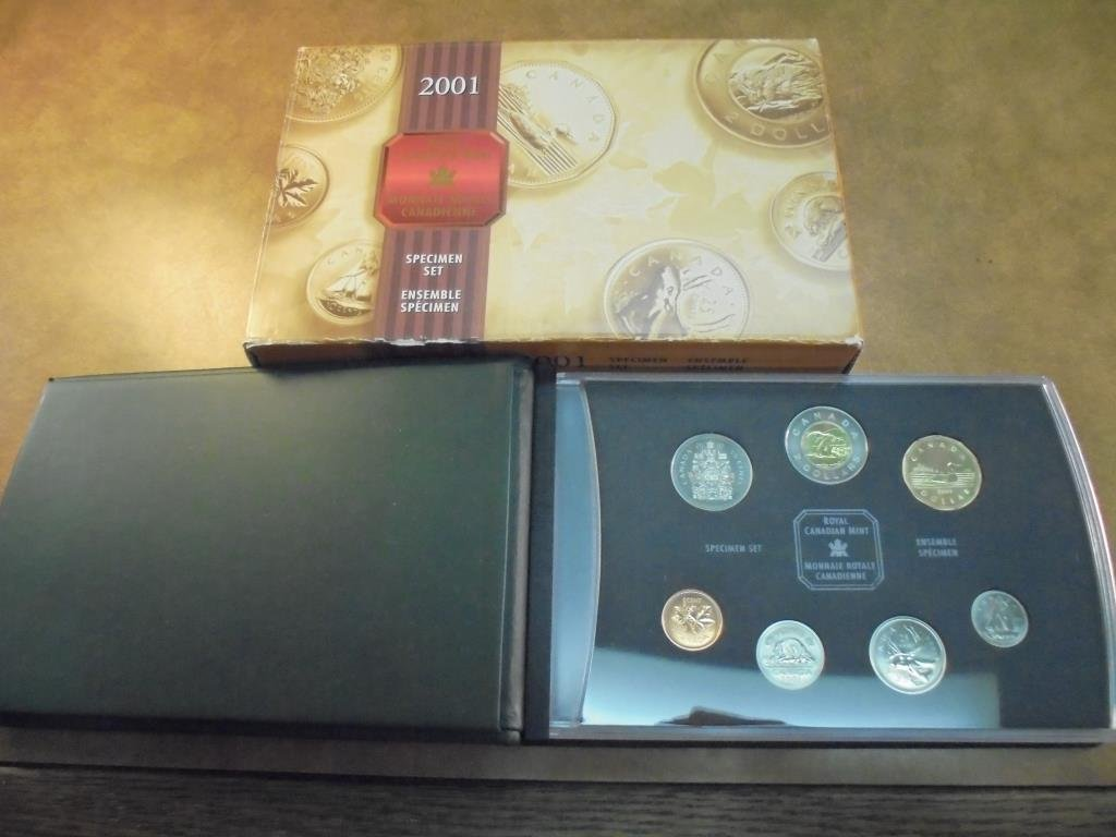 2001 CANADA SPECIMEN SET ORIGINAL MINT PACKAGING