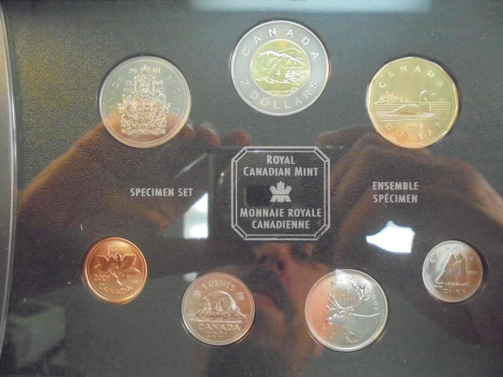 2001 CANADA SPECIMEN SET ORIGINAL MINT PACKAGING - 2