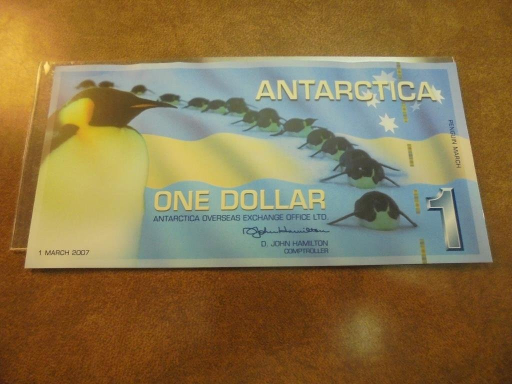 2007 ANTARCTICA $1 CRISP UNC