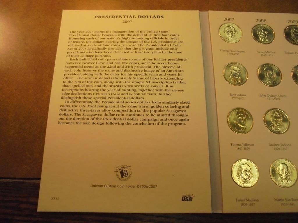 2000-2011 PRESIDENTIAL DOLLAR SET 20 BRILLIANT UNC - 2