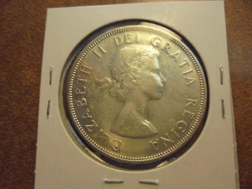 1959 CANADA SILVER DOLLAR UNC - 2