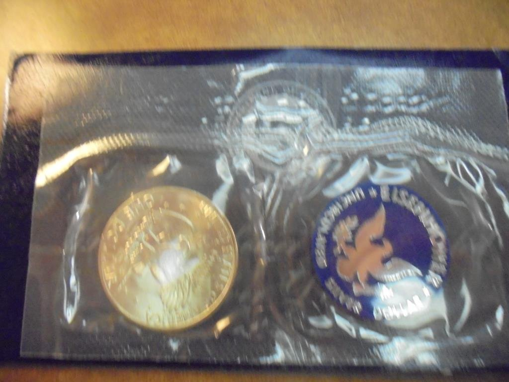 1971-S  IKE SILVER DOLLAR UNCIRCULATED (BLUE PACK) - 2