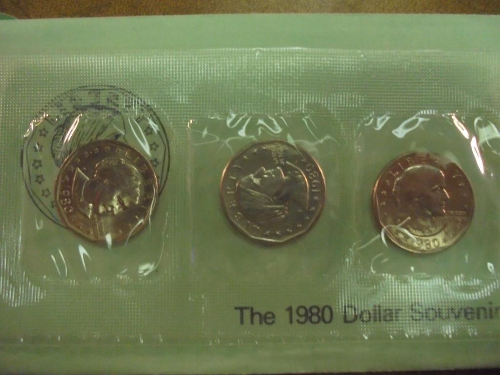 1980 P/D/S SBA DOLLAR SOUVENIR SET