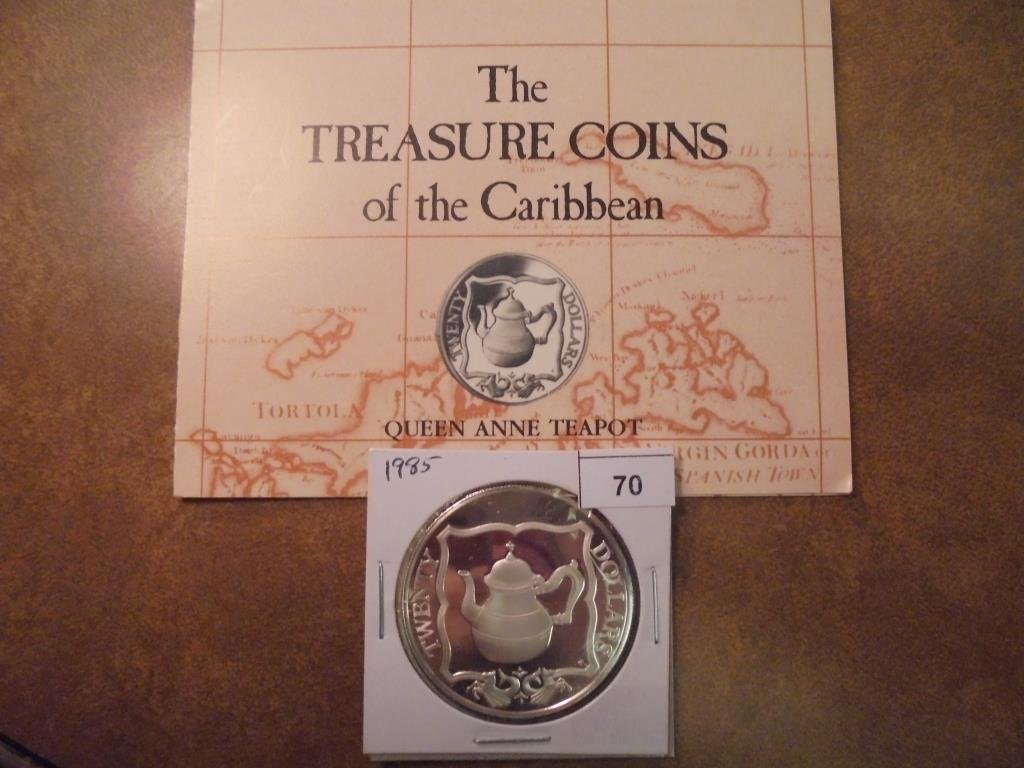 1985 BRITISH VIRGIN ISLANDS SILVER PROOF $20