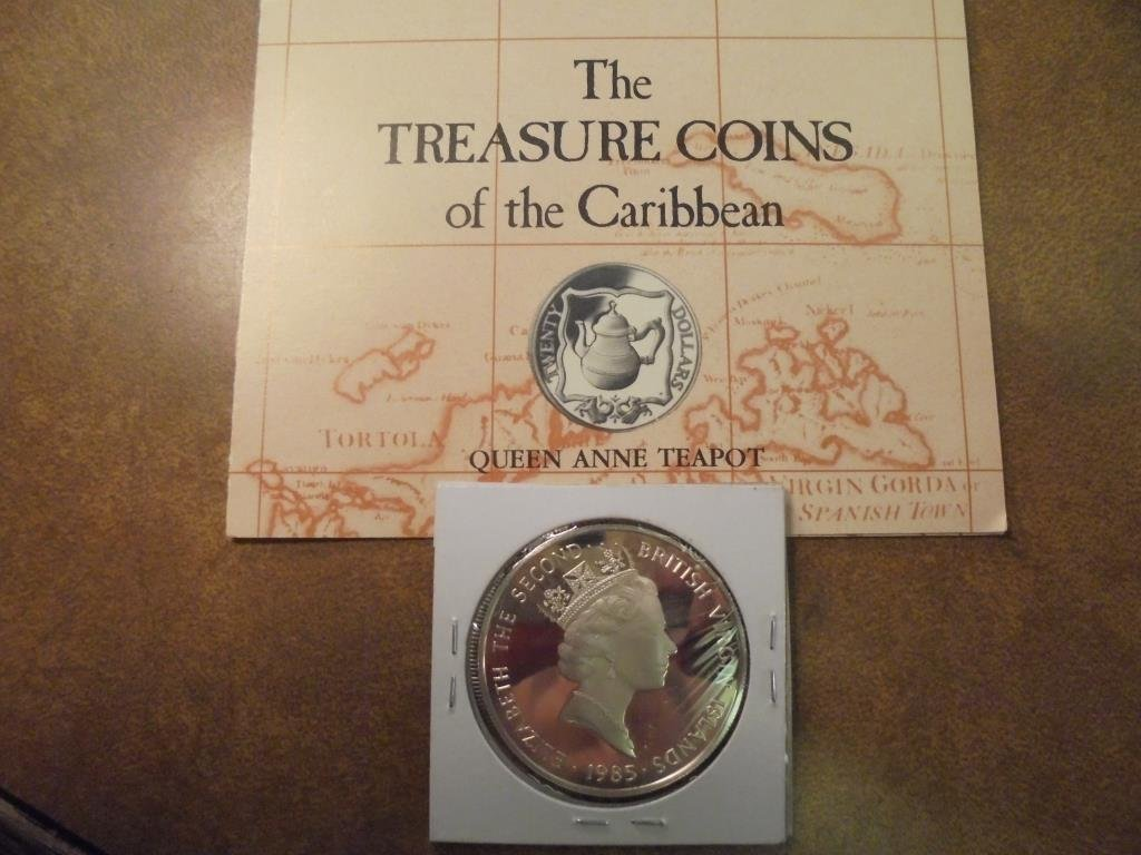 1985 BRITISH VIRGIN ISLANDS SILVER PROOF $20 - 2
